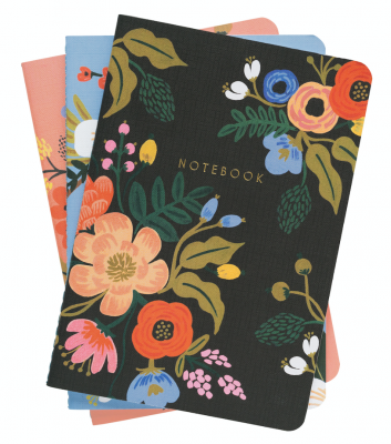 Lively Floral Stitched Notebooks - 3