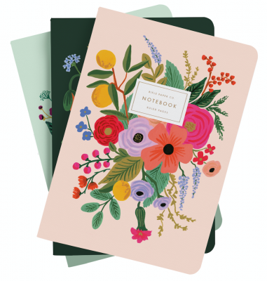 Garden Party Stitched Notebooks - 3