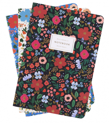 Wild Rose Stitched Notebooks - 3