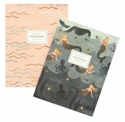 Mermaid Notebooks - 2 Notizbuecher A5 - Rifle Paper Co.