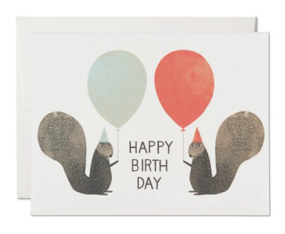 Party Squirrels - Red Cap Cards