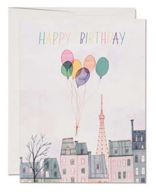 Paris Balloons - Red Cap Cards