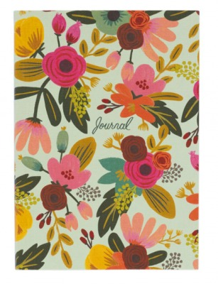 Mint Floral Journal - Tagebuch