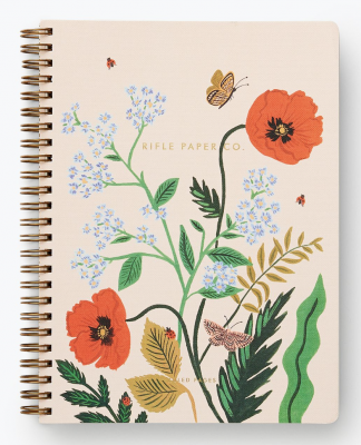 Poppy Botanical Spiral Notebook Rifle Paper