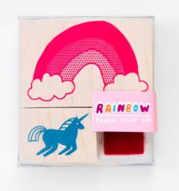 Unicorn & Rainbow - Yellow Owl