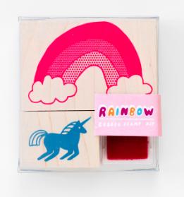 Unicorn & Rainbow - Yellow Owl