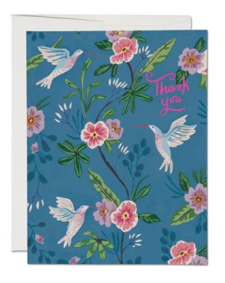 Blue Hummingbird - Red Cap Cards