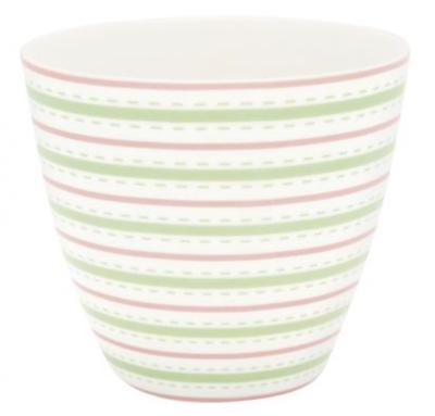 Latte Cup Sari White Green Gate