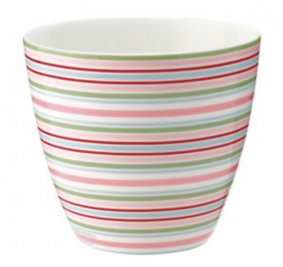Latte Cup Silvia Stripe White Green