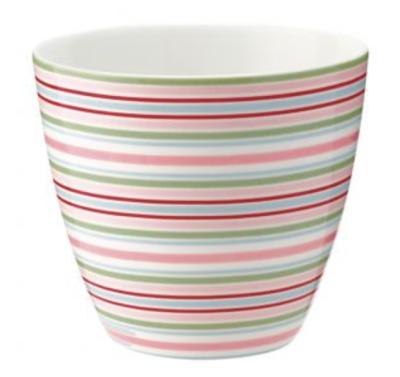 Latte Cup Silvia Stripe White Green