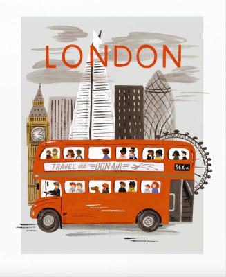 London World Traveler Art Print Rifle