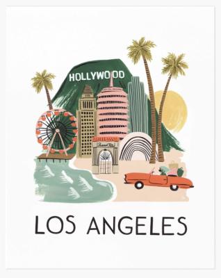 Los Angeles Art Print Rifle Paper