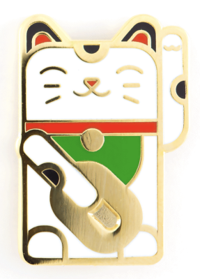 Lucky Cat Pin These Are Things