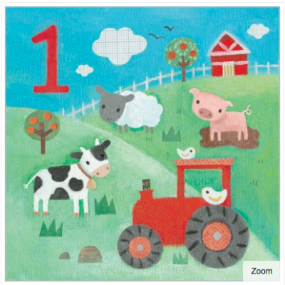 On the Farm Card - Age 1 Boy - Maddicott
