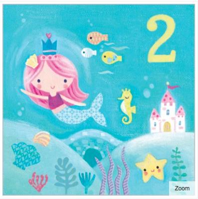 Little Mermaid Card Age Girl Maddicott