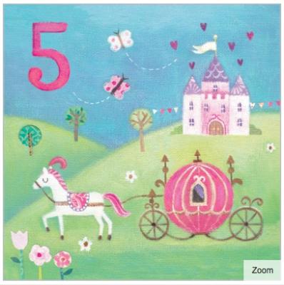Princess Carriage Card Age Girl Maddicott