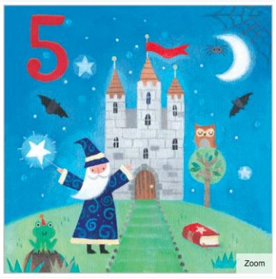 Abracadabra Card - Age 5 Boy