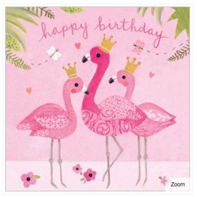 Flamingo Fun Card - Maddicott