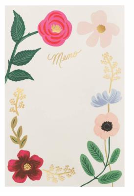 Wildflowers Memo Notepad - Memo Notizblock