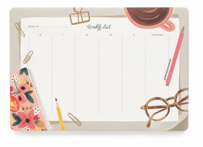 Desktop Weekly Desk Pad - Rifle Paper Co.