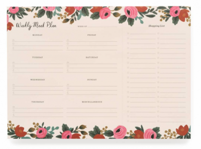 Rosa Weekly Meal Planner Notepad - Rifle Paper Co.