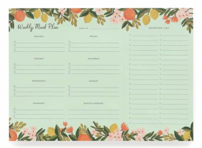 Citrus Floral Weekly Meal Planner - Wochen- / Einkaufsplaner