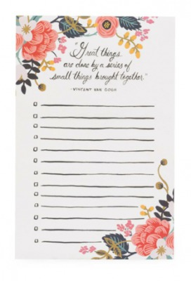 Grat Things Notepad Rifle Paper Co
