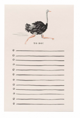 Ostrich Notepad Notizblock - Rifle Paper Co.