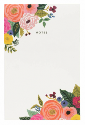 Juliet Rose Notepad - Notizblock - Rifle Paper Co.