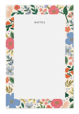 Wild Rose Notepad Rifle Paper Co