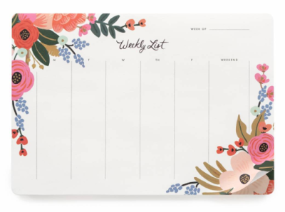 Lively Floral Weekly Deskpad - Rifle Paper Co.