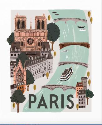 Paris World Traveler Art Print Rifle