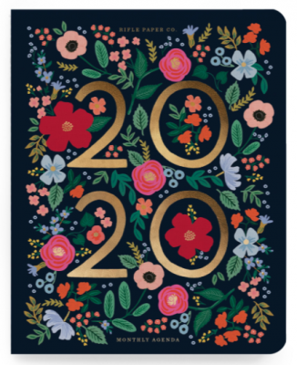 2020 Wild Rose Appointment Notebook - Rifle Paper Co. Notebook