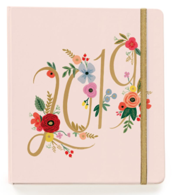 2019 Bouquet Covered Planner - Rifle Paper Terminplaner