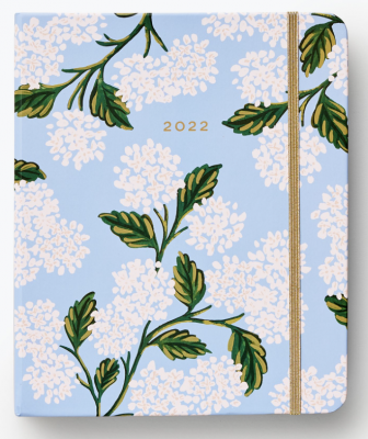 Hydrangea Covered Planner Rifle Paper Planner