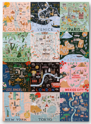 Maps Puzzle - Rifle Paper Puzzle