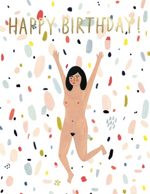 Birthday Suit Card Red Cap Cards