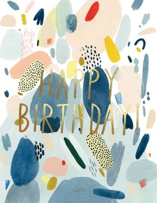 Abstract Birthday Card Red Cap Cards