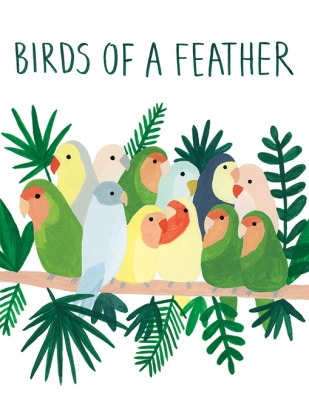 Birds of Feather Card Red Cap