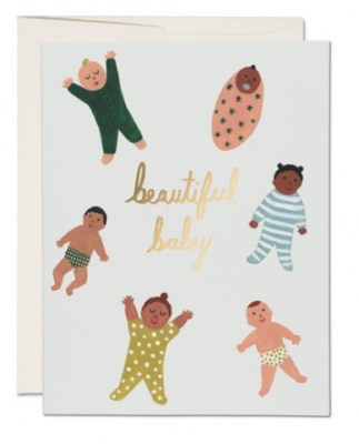 Beautiful Baby Card - Red Cap Cards