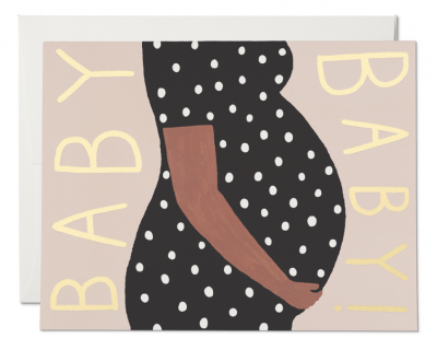 Baby Bump Card Red Cap Cards