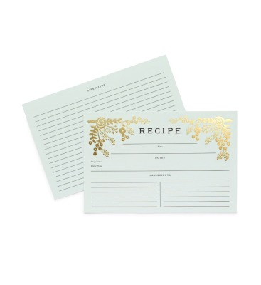 Gold Garden Recipe Cards - Rezeptkarten