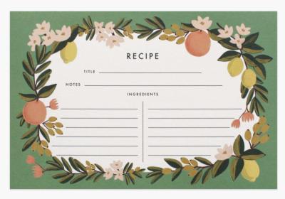 Citrus Floral Recipe Cards - Rezeptkarten