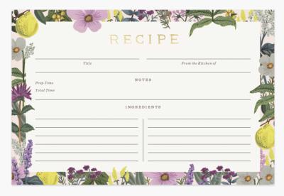 Herb Garden Recipe Cards - Rezeptkarten