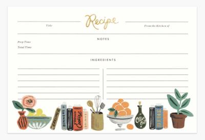 Kitchen Shelf Recipe Cards - Rezeptkarten