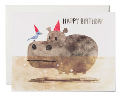 Bird and Hippo Red Cap Cards