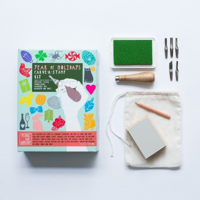 Year of Holidays Carve -A- Stamp Kit - Yellow Owl Workshop