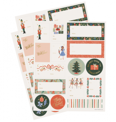 Nutcracker Sticker Set Holiday Sticker Labels