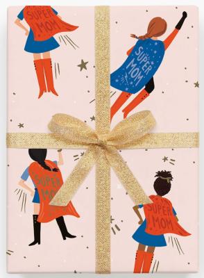 Super Mom Gift Wrap Geschenkpapier Rifle