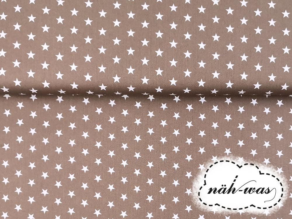 Sterne Baumwollstoff Sternchen beige 3